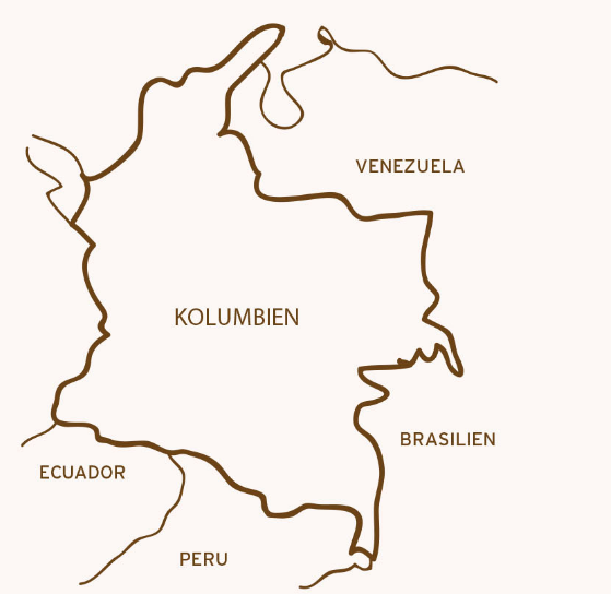 Kolumbien Map